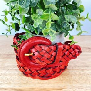 Dockers Vintage Red Braid Belt